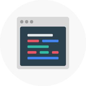icono de pantalla de programación indicando servicio de soluciones a la medida